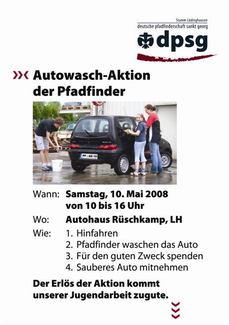 Autowaschaktion 2008 Flyer